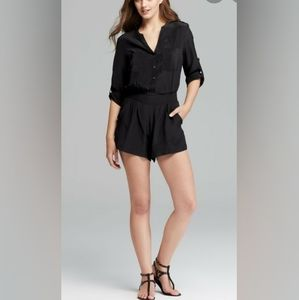 12th st Cynthia Vincent silk long sleeved romper